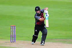 Jim Allenby of Somerset hits down the ground.  - Mandatory by-line: Alex Davidson/JMP - 29/08/2016 - CRICKET - Edgbaston - Birmingham, United Kingdom - Warwickshire v Somerset - Royal London One Day Cup semi final