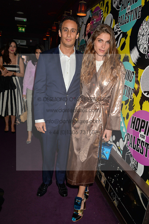 ALEX DELLAL and ELISA SEDNAOUI at Hoping's Greatest Hits - the 10th Anniversary of The Hoping Foundation's charity benefit held at Ronnie Scott's, 47 Frith Street, Soho, London on 16th June 2016.