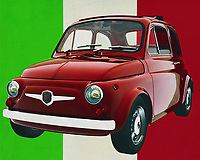 The Fiat Abarth 595 from 1968 is a small car which is the basis of all Italian culture; the Fiat 500 which is loved as a small city car but the Fiat Abarth 595 is a real little devil on four wheels. The design is typically Italian, averse to all other models of cars and therefore recognisable; the Fiat 500 looks sympathetic and everyone lovingly passes it on the motorway. But the Fiat Abarth 595 is a different story. When he ignites his devils you have to have a very decent sports car to catch up with him.<br /> <br /> This painting of the Fiat Abarth 595 from 1968 can be printed on different sizes and materials. Really a piece for every car lover to hang up in an office or at home. -<br /> <br /> BUY THIS PRINT AT<br /> <br /> FINE ART AMERICA<br /> ENGLISH<br /> https://janke.pixels.com/featured/fiat-abarth-595-from-1968-symbol-of-italian-culture-jan-keteleer.html<br /> <br /> <br /> <br /> WADM / OH MY PRINTS<br /> DUTCH / FRENCH / GERMAN<br /> https://www.werkaandemuur.nl/nl/werk/Fiat-Abarth-595-uit-1968-symbool-van-de-Italiaanse-cultuur/637105/134?mediumId=1&size=70x55