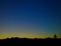twilight Olympic Mountain silhouette