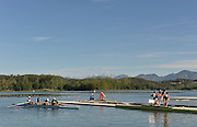 Banyoles, SPAIN,  GV over the lake near the boating stages, FISA World Cup Rd 1. Lake Banyoles  Thursday,  28/05/2009   [Mandatory Credit. Peter Spurrier/Intersport Images]