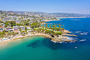 Aerial View of Laguna Beach Coastline
