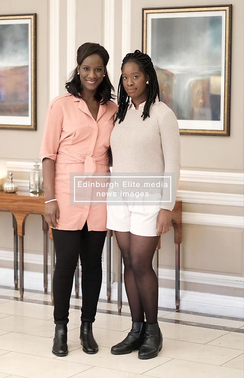 Edinburgh International Film Festival, Thursday 29th June 2017<br /> <br /> 1745 Short Film<br /> <br /> Sisters Moyo and Morayo Akande, and Mary Jean Walsh, all from Glasgow from the short film '1745' attended a drinks reception in the Waldorf Astoria Caledonian Hotel <br /> <br />  <br /> <br /> (c) Alex Todd   Edinburgh Elite media