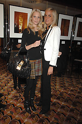 Left to right, POPPY DELEVIGNE and LADY LOUISA COMPTON at an exhibition of photographs by Olivia Buckingham held at China Tang, The Dorchester, Park Lane London on 5th March 2007.<br />