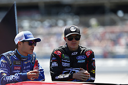 April 29, 2018 - Talladega, Alabama, United States of America - Kyle Larson (42) and Trevor Bayne (6) out on pit road prior to the green flag for the GEICO 500 at Talladega Superspeedway in Talladega, Alabama. (Credit Image: © Justin R. Noe Asp Inc/ASP via ZUMA Wire)