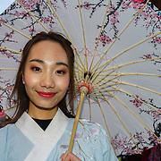 London, UK. 18th Feb 2018. Chinese New Year - Year of a Dog is Celebrated with a Parade in central London, near the china town area with dragon and lions dances and large colourful float was one of many taking part.