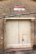 Domaine Leon Barral, Faugeres. Faugeres. Languedoc. A door. France. Europe.