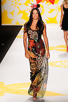 Adriana Lima walks the runway wearing Desigual Spring 2015 during Mecedes-Benz Fashion Week in New York on September 4th, 2014