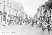 A picture of High Street Killarney taken circa 1900.<br /> Picture from the macmonagle collection