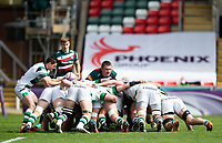 Rugby Union - 2020 / 2021 ER Challenge Cup - Quarter-Final - Leicester Tigers  vs Newcastle Falcons - Welford Road<br /> <br /> Louis Schreuder of Newcastle Falcons puts the ball into the scrum<br /> <br /> Credit : COLORSPORT/BRUCE WHITE