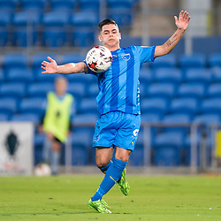BRISBANE, AUSTRALIA - SEPTEMBER 20: Benjamin Lyvidikos of Gold Coast City controls the ball during the Westfield FFA Cup Quarter Final match between Gold Coast City and South Melbourne on September 20, 2017 in Brisbane, Australia. (Photo by Gold Coast City FC / Patrick Kearney)