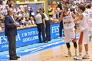 DESCRIZIONE : Supercoppa 2015 Semifinale Banco di Sardegna Sassari - Grissin Bon Reggio Emilia<br /> GIOCATORE : Pietro Aradori Romeo Sacchetti<br /> CATEGORIA : fairplay<br /> SQUADRA : Banco di Sardegna Sassari Grissin Bon Reggio Emilia<br /> EVENTO : Supercoppa 2015<br /> GARA : Banco di Sardegna Sassari - Grissin Bon Reggio Emilia<br /> DATA : 26/09/2015<br /> SPORT : Pallacanestro <br /> AUTORE : Agenzia Ciamillo-Castoria/Max.Ceretti