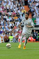 Real Madrid´s Sergio Ramos during 2014-15 La Liga match between Real Madrid and Valencia at Santiago Bernabeu stadium in Madrid, Spain. May 09, 2015. (ALTERPHOTOS/Luis Fernandez)