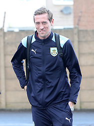 Burnley's Peter Crouch arrives at the stadium prior to the match