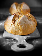 loaves of Pain Au Levan French white bread