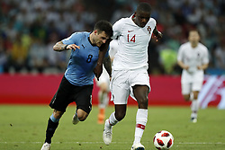 (l-r) Nahitan Nandez of Uruguay, William Carvalho of Portugal during the 2018 FIFA World Cup Russia round of 16 match between Uruguay and at the Fisht Stadium on June 30, 2018 in Sochi, Russia