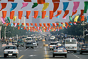 City Traffic in Peking, now Beijing, China in the 1980s