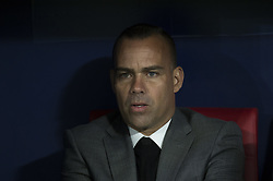 March 22, 2019 - Madrid, Madrid, Spain - Rafael Dudamel coach of Venezuela during the Friendly football match between Argentina and Venezuela at Wanda Metropolitano Stadium in 22 March 2019, Madrid, Spain, preparatory for the Copa América Brazil 2019 to be played from June 14 to July 7. (Credit Image: © Patricio Realpe/NurPhoto via ZUMA Press)