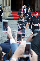 October 14, 2016 - Manchester, Greater Manchester, UK - Manchester , UK . The Duke and Duchess of Cambridge leave Manchester Town Hall after a visit in Manchester  (Credit Image: © Joel Goodman/London News Pictures via ZUMA Wire)