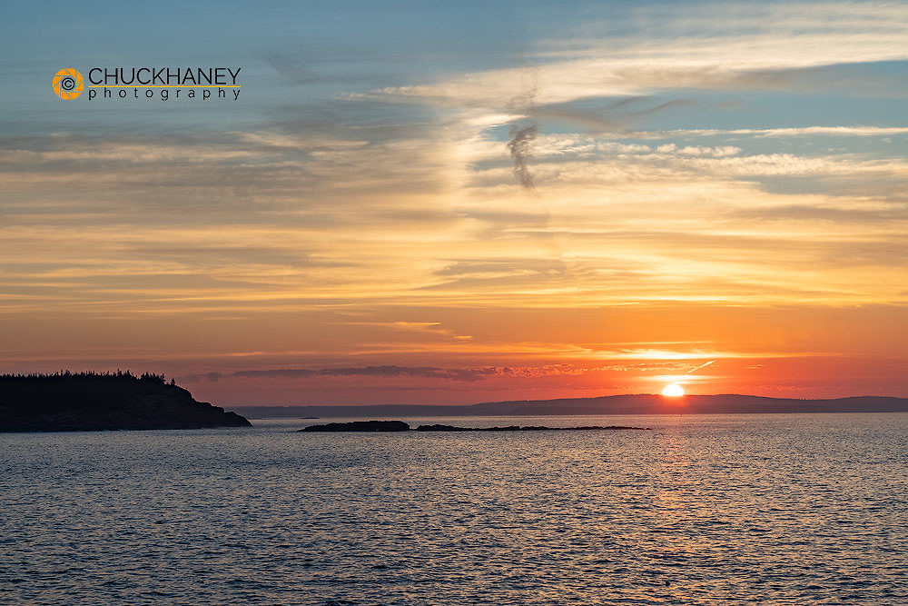 Sunrise over Frenchman Bay in Acadia National Park, Maine, USA