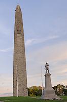 Bennington Battle Monument and statue of Seth Warner, Bennington, Vermont