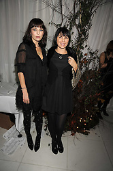 Left to right JEMIMA FRENCH and SADIE FROST at a reception before the launch of the English National Ballet Christmas season launch of The Nutcracker held at the St,Martins Lane Hotel, London on 5th December 2008.