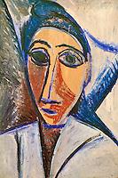 France, Paris (75), Musee Picasso, Buste de femme ou de marin (étude pour les Demoiselles d'Avignon), 1907 // France, Paris, Picasso museum, Bust of a woman or sailor (Study for Les demoiselles d'Avignon), 1907