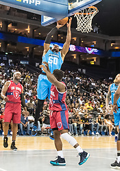 July 6, 2018 - Oakland, CA, U.S. - OAKLAND, CA - JULY 06:Corey Maggette (50) captain of Power goes up for a lay up during game 3 in week three of the BIG3 3-on-3 basketball league on Friday, July 6, 2018 at the Oracle Arena in Oakland, CA  (Photo by Douglas Stringer/Icon Sportswire) (Credit Image: © Douglas Stringer/Icon SMI via ZUMA Press)