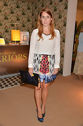 PRINCESS BEATRICE OF YORK at the Masterpiece Marie Curie Party supported by Jeager-LeCoultre held at the South Grounds of The Royal Hospital Chelsea, London on 30th June 2014.