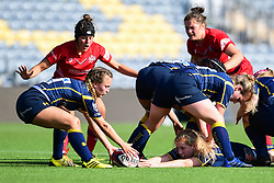 Charlotte Browning of Worcester Valkyries recycles the ball - Mandatory by-line: Craig Thomas/JMP - 23/09/2017 - RUGBY - Sixways Stadium - Worcester, England - Worcester Valkyries v Bristol Ladies - Tyrrells Premier 15s