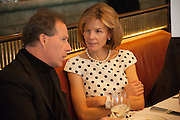 VISCOUNT LINLEY; ANNA CARTER, Vanity Fair Lunch hosted by Graydon Carter. 34 Grosvenor Sq. London. 14 May 2013