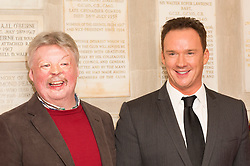© Licensed to London News Pictures. 03/12/2013. London, UK. Russell Watson, the UK's biggest selling classical artist has been chosen to be the voice of Home Ground, a series of charity concerts marking the centenary of the outbreak of WW1. Russell officially launched the project today at the Union Jack Club in London. Afterwards Russell was inaugurated into the Falklands Veterans by Simon Weston OBE and awarded a special tie. Photo credit : Simon Ford/LNP