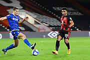 Junior Stanislas (19) of AFC Bournemouth passes the ball during the EFL Sky Bet Championship match between Bournemouth and Nottingham Forest at the Vitality Stadium, Bournemouth, England on 24 November 2020.