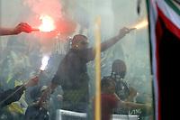 Parma 18/4/2004 Campionato Italiano Serie A <br />30a Giornata - Matchday 30 <br />Parma Juventus 2-2 <br />Tifosi della Juventus.<br />Juventus Fans<br /> Foto Graffiti