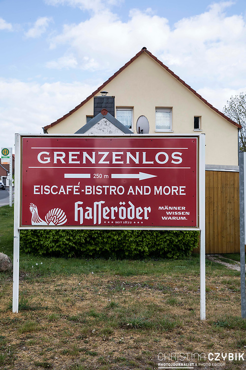 Grenzdenkmal der innerdeutschen Grenze in Hötensleben, Sachsen-Anhalt, Deutschland, 4. Mai 2020