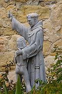 Statue of Father Serra and Indian Boy at Mission San Juan Capistrano, San Juan Capistrano, California