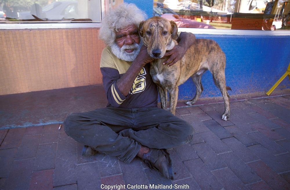 Aboriginal man in Alice Springs Australia.