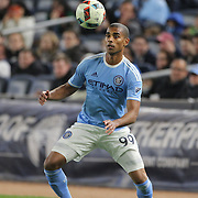 Tony Taylor, NYCFC, in action during the New York City FC Vs Orlando City, MSL regular season football match at Yankee Stadium, The Bronx, New York,  USA. 18th March 2016. Photo Tim Clayton