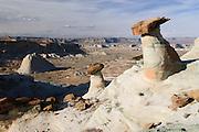 Balancing rock formations in the northern Arizona desert. Missoula Photographer