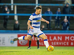 Morton's Robert McHugh scoring their first half penalty. half time : Morton 1 v 1 Brora Rangers, 3rd Round of the Scottish Cup played 23/11/2019 at Cappielow, Greenock.