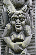 'Devil' sculpture by a lake in Aukstaitija National Park, Lithuania. © Rudolf Abraham.