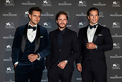Milos Bikovic, Daniel Bruhl, Henry Cavill attend the Jaeger Le-Coultre Gala night held at Arsenale Docks during the 75th Venice Film Festival at Sala Grande on September 4, 2018 in Venice, Italy. Photo by Marco Piovanotto/ABACAPRESS.COM