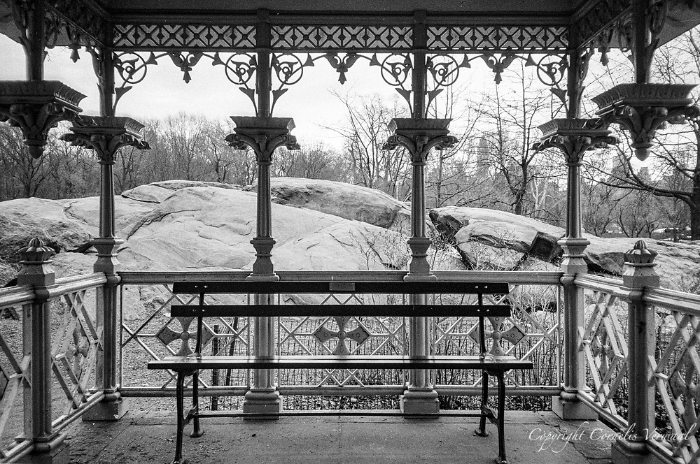 The Ladies' Pavilion at the Hernshead in Central Park. New York City.