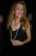 JERRY HALL. First night party for High Society. Shanghai Blues. High Holborn.  October 10 2005. ONE TIME USE ONLY - DO NOT ARCHIVE © Copyright Photograph by Dafydd Jones 66 Stockwell Park Rd. London SW9 0DA Tel 020 7733 0108 www.dafjones.com