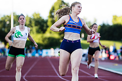 Maja Mihalinec competes in Women's 100m sprint during day one of the 2020 Slovenian Cup in ZAK Stadium on July 4, 2020 in Ljubljana, Slovenia. Photo by Grega Valancic / Sportida