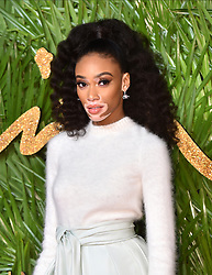Winnie Harlow attending the Fashion Awards 2017, in partnership with Swarovski, held at the Royal Albert Hall, London. Picture Date: Monday 4th December, 2017. Photo credit should read: Matt Crossick/PA Wire