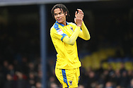 AFC Wimbledon defender Toby Sibbick (20) clapping during the EFL Sky Bet League 1 match between Southend United and AFC Wimbledon at Roots Hall, Southend, England on 16 March 2019.