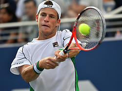 September 1, 2018 - Flushing Meadow, NY, U.S. - FLUSHING MEADOW, NY - SEPTEMBER 01: Diego Scwartzman (ARG) in action during his third round match in the Men's Singles Championships at the US Open on September 1, 2018, at the Billie Jean King Tennis Center in Flushing Meadow, NY. (Photo by Cynthia Lum/Icon Sportswire) (Credit Image: © Cynthia Lum/Icon SMI via ZUMA Press)