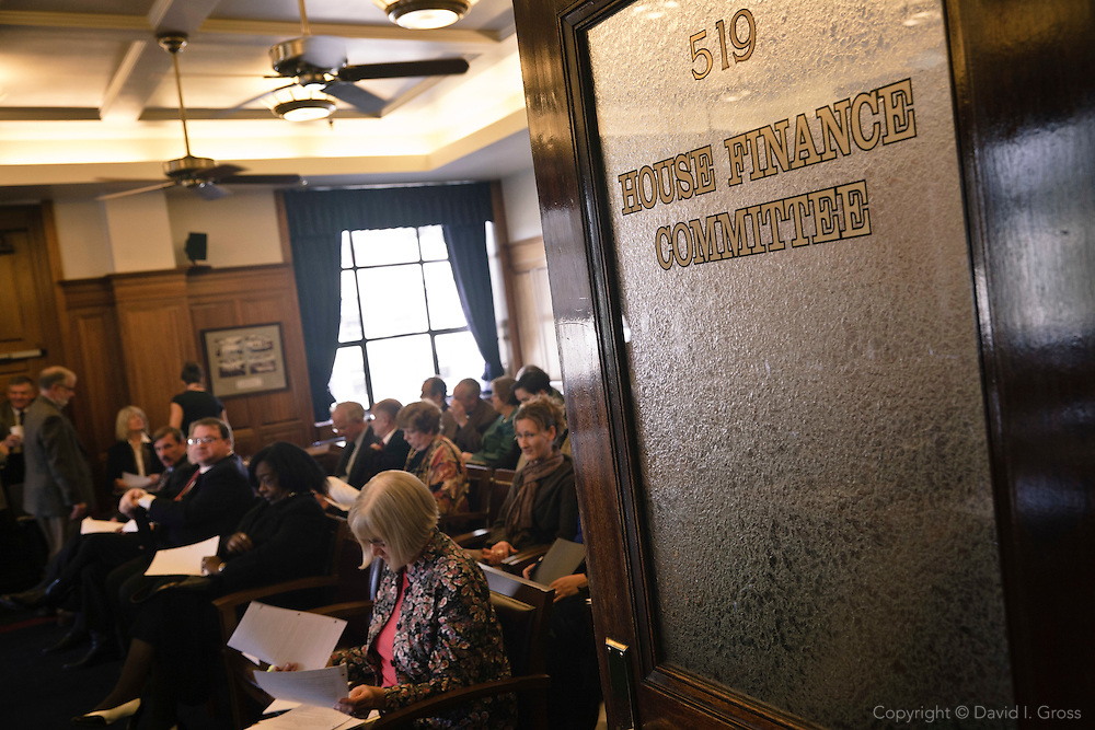 The hearing room of the Alaska State House Finance Committee.