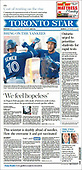 September 27, 2021 - CANADA: Front-page: Today's Newspapers In Canada